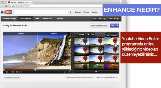 Youtube'un Online Video Editör Hizmeti Verdiğini Bilen Var Mı?