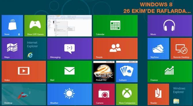 Windows 8 Yazılımcılar ve Genel Kullanıcılar İçin Görücüye Çıktı…