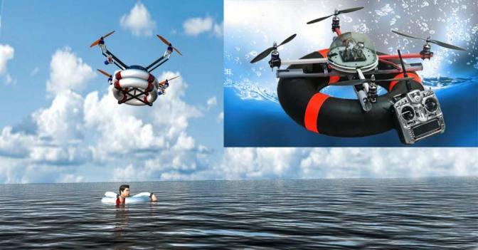 4 Pervaneli Quadcopter Hayat Kurtaracak