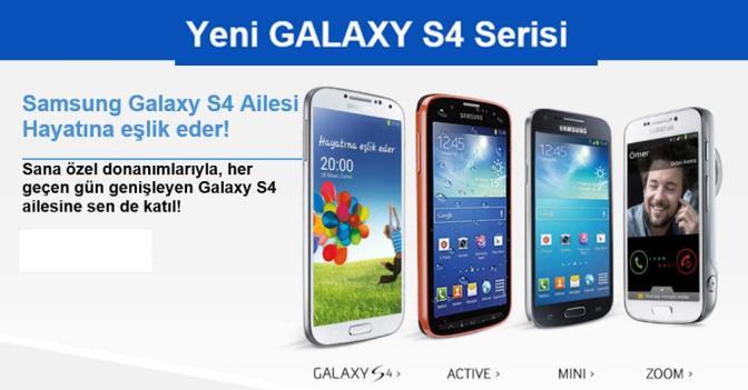 Samsung Galaxy S4 Serisi Tanıtıldı