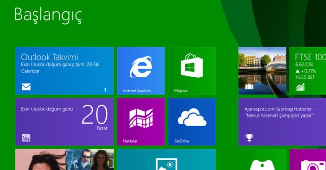 Windows 8.1 Başlat Butonuyla Geldi