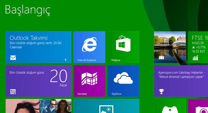 Windows 8.1 Başlat Butonuyla Geldi