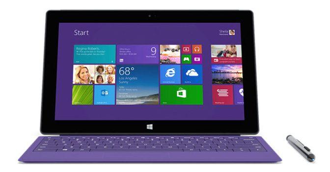 Microsoft Surface Pro 2 Tablet Üst Seviye Performans Sunuyor